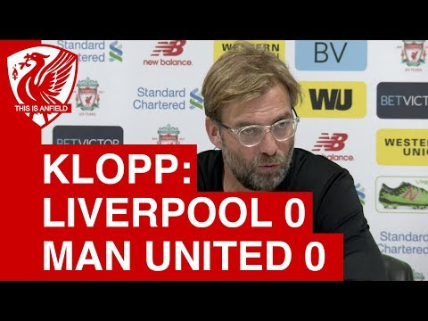 Liverpool 0-0 Man United: Jurgen Klopp's post-match press conference