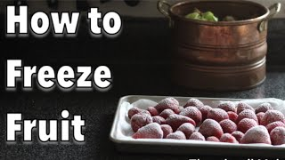 How to FREEZE fruit for long term storage