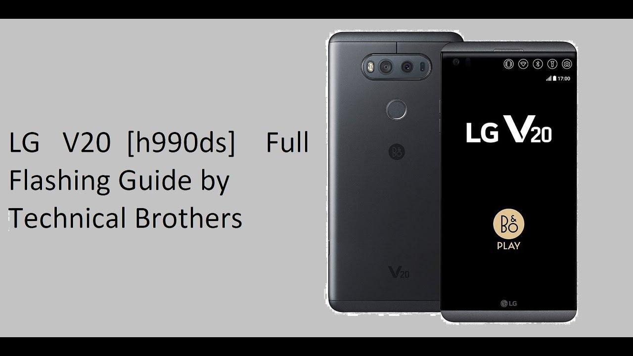 LG V20 h990ds Flashing