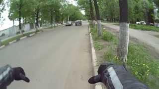 уроки вождения мотоцикла без мотоцикла/crazy russian moto driver:)