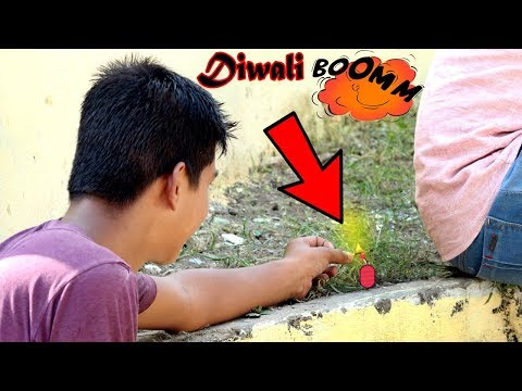 Funny Diwali video with crackers 💣💣💣