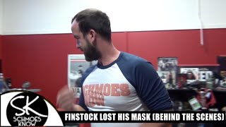 Finstock lost his mask (Behind-the-Scenes)