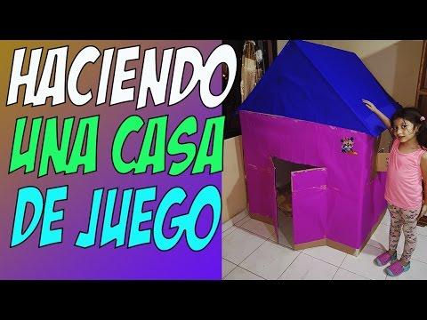 Como hacer  una casa de carton para niña con una caja (la casa de IsaToys)