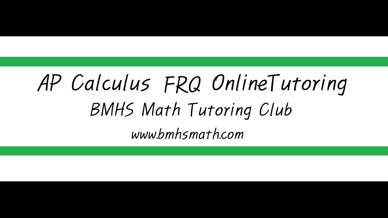 2005 AP Calculus BC 5 - YouTube