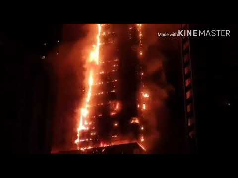 Massive Fire in Sharjah Tower   _ Al Nahda Sharjah UAE