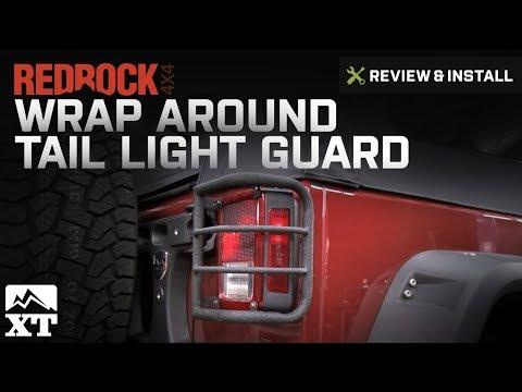 Jeep Wrangler RedRock 4x4 Wrap Around Tail Light Guard (2007-2016 JK) Review & Install