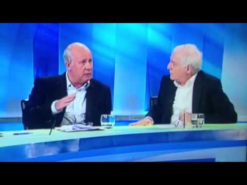 Liam Brady vs Eamon Dunphy fight RTE