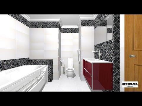 Dise o de cuarto de ba o 2 colores youtube for Accesorios de bano de diseno