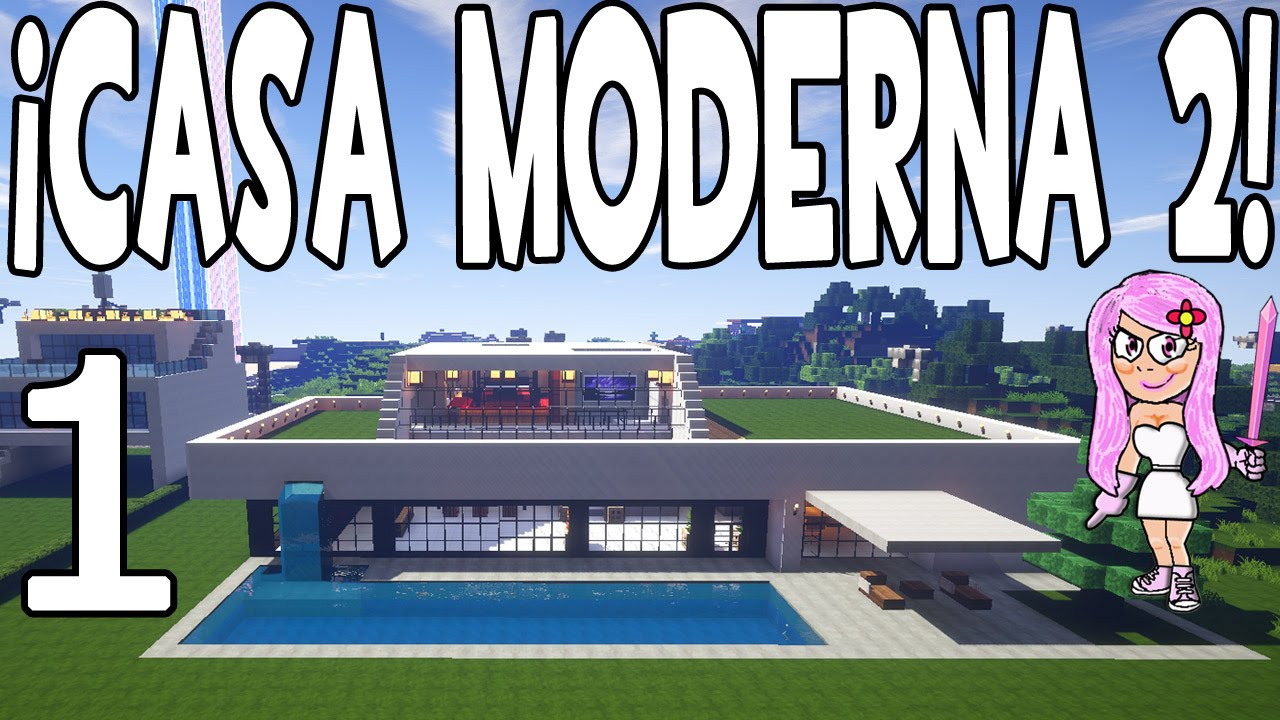 Casa moderna 2 en minecraft parte 1 presentaci n y for Casa moderna 8
