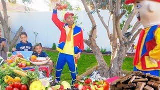 عمو صابر أغنية الفواكه والخضروات -amo saber vegetables and fruits song