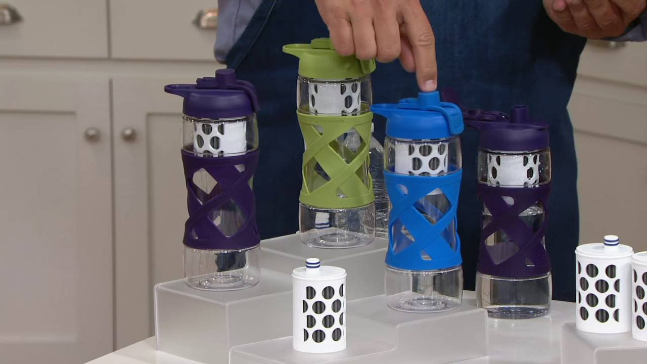 c553270c88 Aquasana Active Filtered Water Bottle with 2 Filters on QVC - YouTube