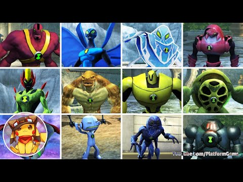 BEN 10 Ultimate Alien Cosmic Destruction - All Alien Transformations [1080p]