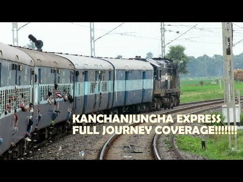 Kolkata To Siliguri Full Journey By Kanchanjungha Express | Journey Compilation:Indian Railway