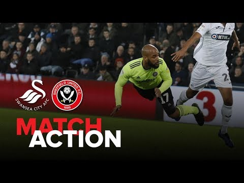 Swansea 1-0 Blades - match action