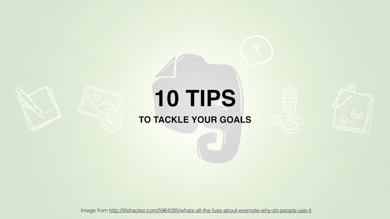 Tracking Goals In Evernote