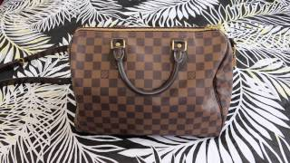 Louis Vuitton Damier Ebene Speedy 30 B | 3-4 year Update!