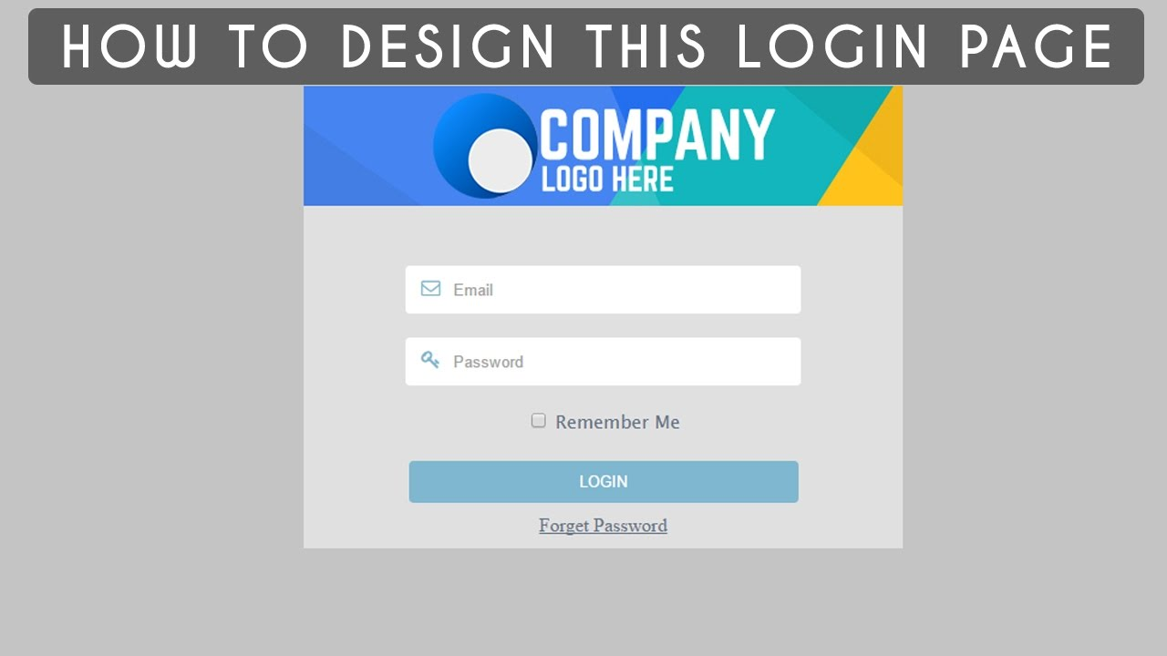 how to create a login page html