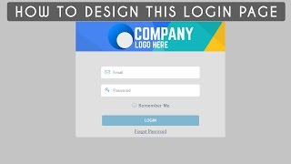 html css designing login form design 1