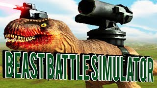 TABS WITH DINOSAURS! DINOS WITH Lasers!- Beast Battle Simulator Gameplay