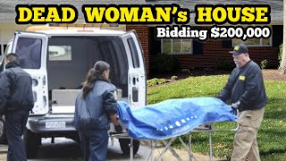 I BID OVER $200,000 On A Dead Woman's Abandoned Home On Halloween /  How To Buy A House
