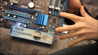 ASUS P7H55-M Pro Core i3 & i5 H55 Motherboard Unboxing & First Look Linus Tech Tips
