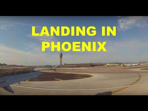 American Airlines Airbus A321 Phoenix Sky Harbor International Airport Landing