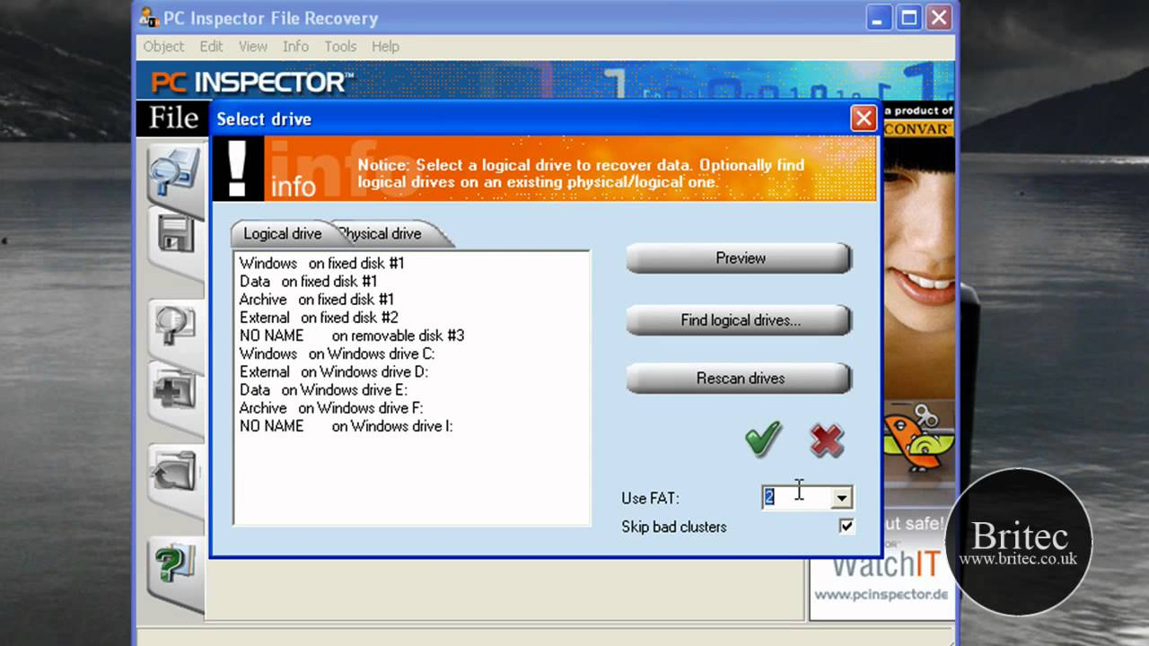 Pc inspector portable file recovery tool usb pen drive apps.