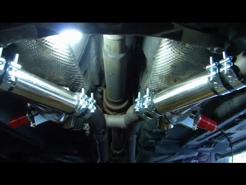 Electric exhaust cutout valves installation on Ford Mustang V8