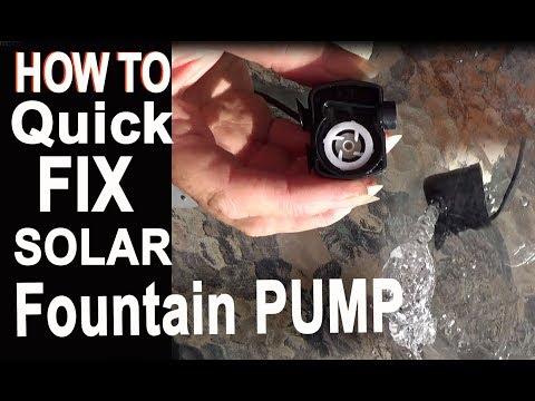How To Fix Solar Powered PUMP Water Fountain Not Working For Hummingbirds Garden Bird Bath Fish Pond