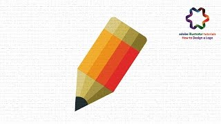 Pencil Icon Logo Design Tutorial using font style / Adobe illustrator Logo Design Tutorial