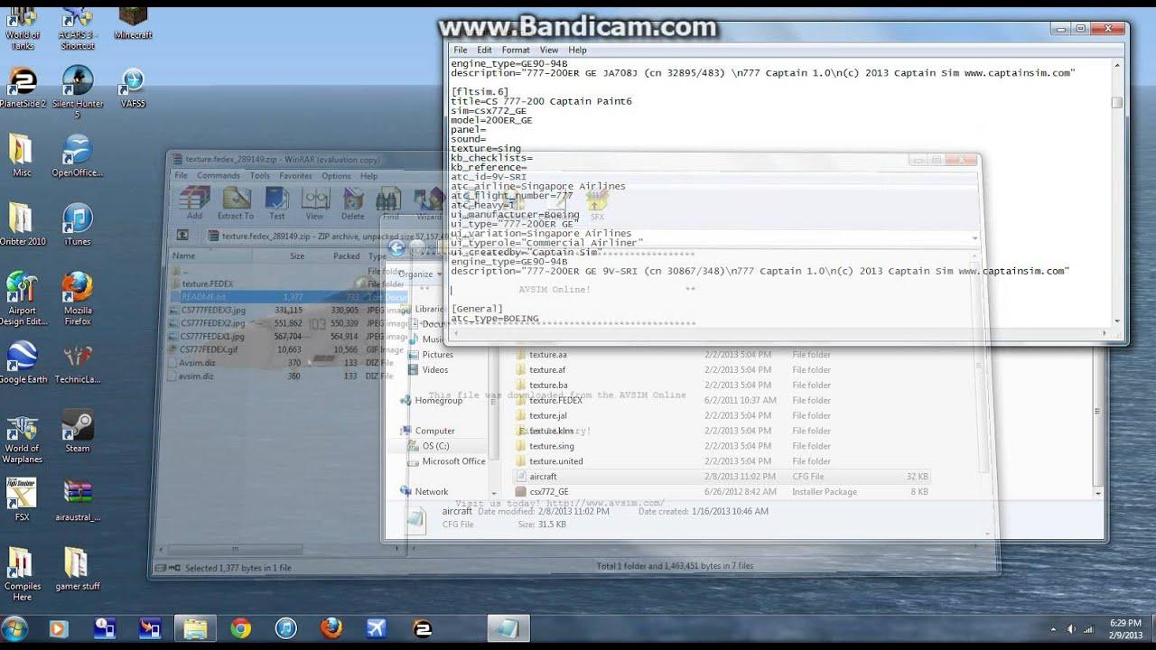 how to install captain sim 757 liveries