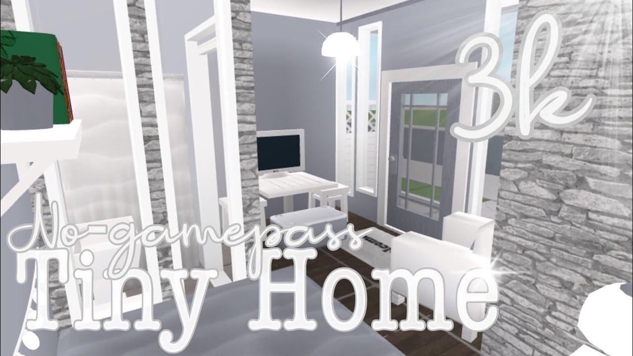 3k No Gamepass Tiny Home Bloxburg Youtube