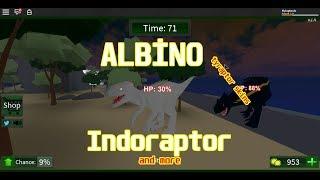 Roblox / Chasseur de dinosaures : Ty-Raptor blanc