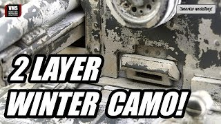 How to make winter camo on model tank - VMS Chip & Nick white tutorial