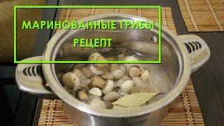 Как мариновать грибы шампиньоны - рецепт приготовления