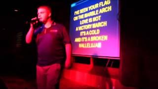 Pat Singing Hallelujah at Karaoke
