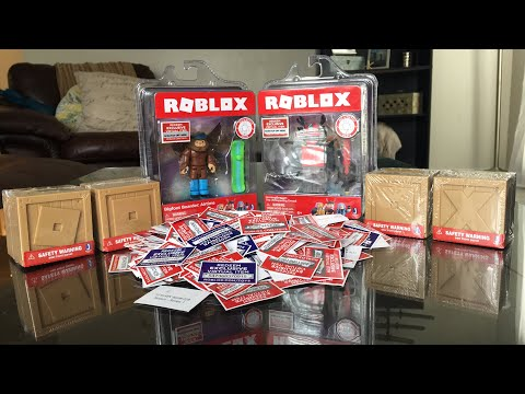 Roblox Toys Unboxing and Giving YOU the Codes! Virtual Item Codes