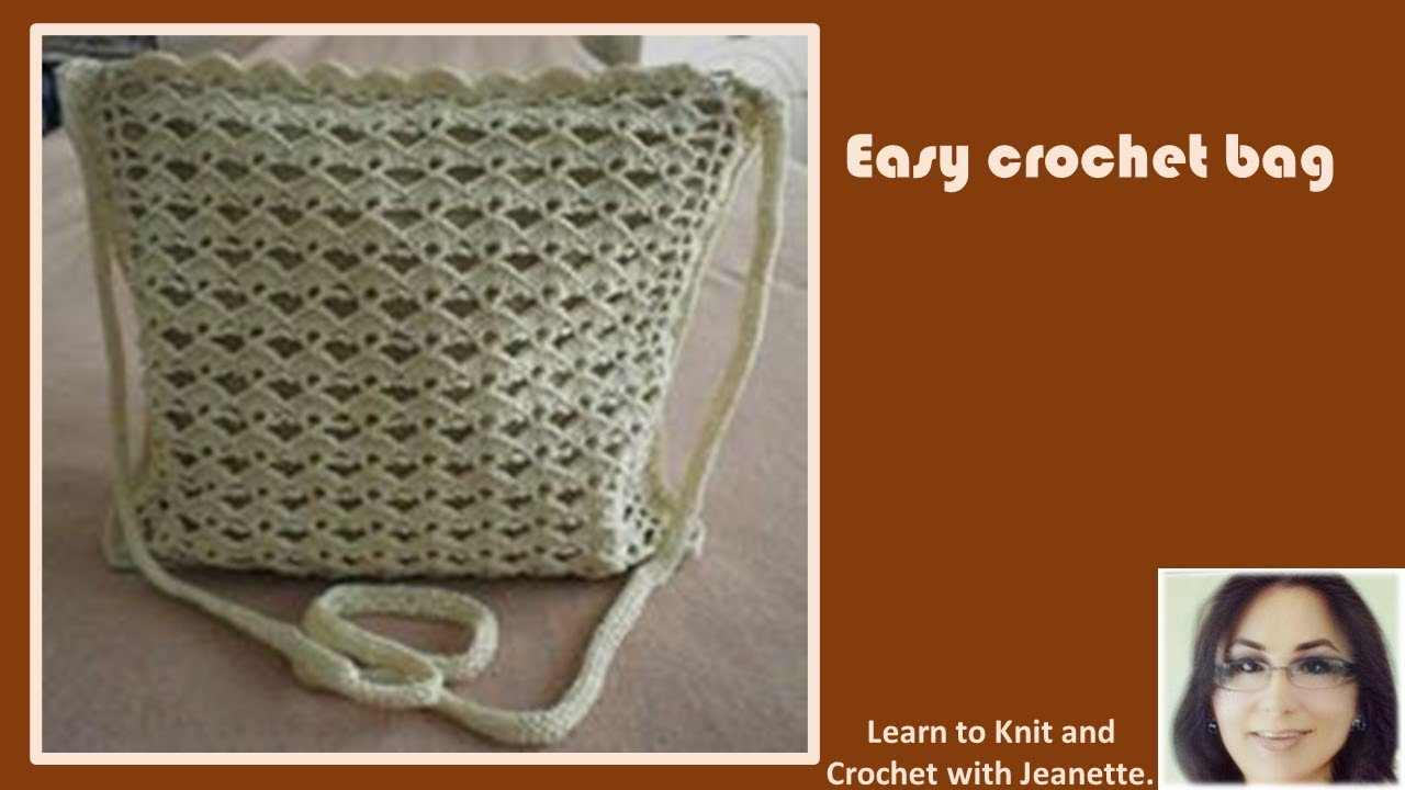 Crochet Simple Bag : Easy Crochet Bag - YouTube