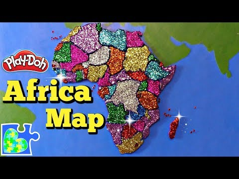 Map Of Africa: Learn The Countries Of Africa! Amazing Play-Doh Puzzle Of The Continent!