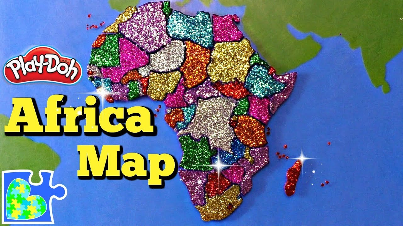 Map of Africa: Learn the Countries of Africa! Amazing Play Doh