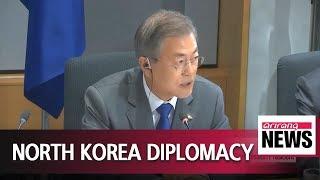 President Moon urges EU leaders to ease sanctions on North Korea