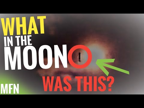 CAUGHT ON CAMERA! UFO BY THE MOON