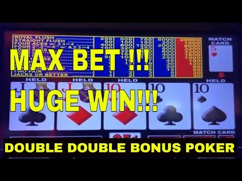 Double Double Bonus Video Poker. Max Bet And Huge Match Win!!!
