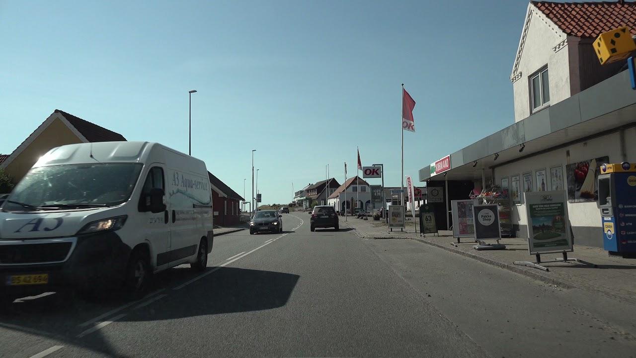 Car ride Køre ud i sommerlandene Skive – Kolding – Als – Tønder - Skive  UHD/4K /HDR Video 12/14