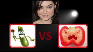 Овощи —  Кабачок против перца