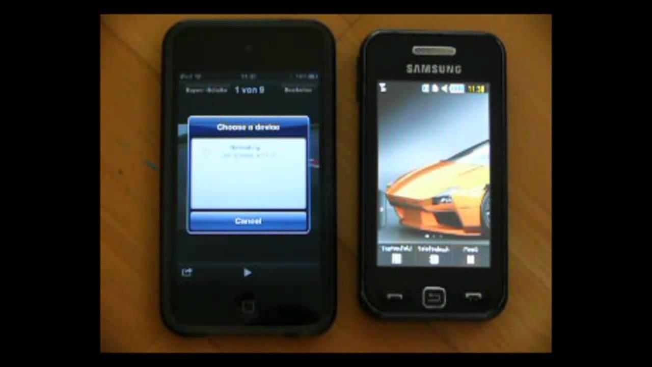 über Bluetooth Fotos Filme Kontakte Schicken Auf Jedes Bluetooth Fähige Gerät Hd