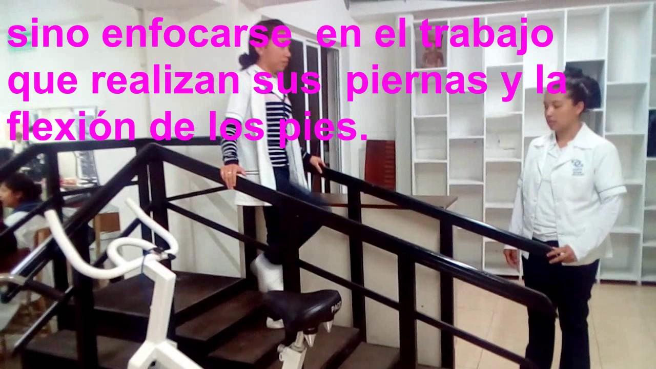 rehabilitacion escaleras - YouTube