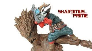 Marvel Legends Rocket Raccoon and Groot Guardians of the Galaxy 5 Pack Set Toy Action Figure Review