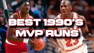 Top 10 NBA MVP seasons & playoffs of the 1990's!