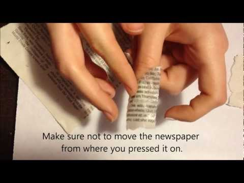 How to: Newspaper Nails (using water)